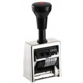 B6 Нумератор автоматический, метал. корп., 6 разр., высота шрифта 4,5; 5,5 мм